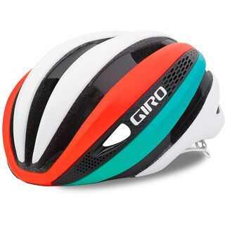 Giro Synthe, mat white/turquoise/vermillion - Fahrradhelm