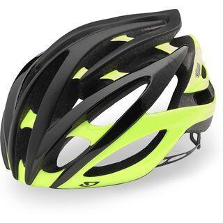 Giro Atmos II, black highlight yellow - Fahrradhelm
