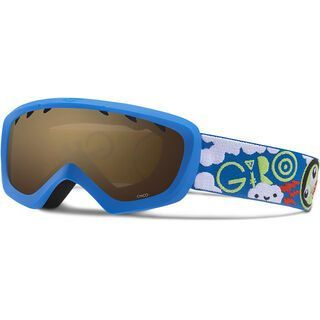 Giro Chico, blue lime space/Lens: amber rose - Skibrille