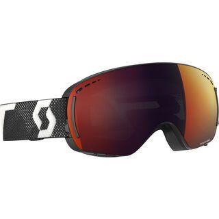 Scott LCG Compact inkl. WS, black white/Lens: solar red chrome - Skibrille