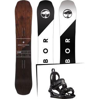 Set: Arbor Coda Camber 2017 + K2 Cinch CTC 2017, black - Snowboardset
