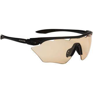 Alpina Twist Four Shield VL+, black matt/Lens: varioflex+ orange - Sportbrille