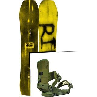 Set: Ride Warpig Small 2017 + Ride Rodeo 2016, forest - Snowboardset