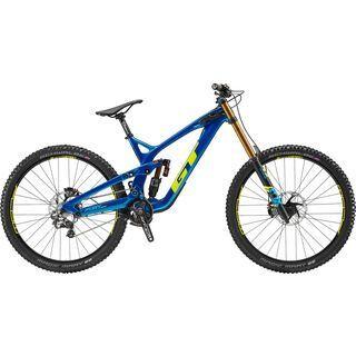 GT Fury Carbon Team 29 2019, blue w/ yellow & cyan - Mountainbike