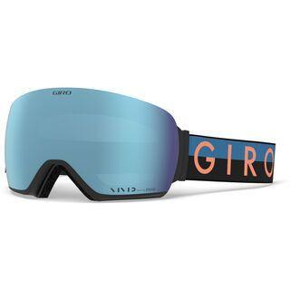 *** 2. Wahl *** Giro Lusi inkl. WS, blue/peach/Lens: vivid royal - Skibrille |