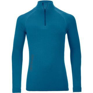 Ortovox 230 Merino Competition Zip Neck M, blue sea - Unterhemd