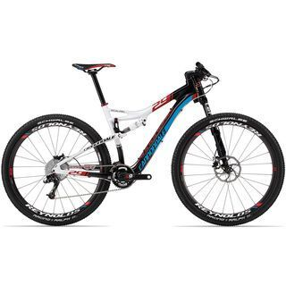 Cannondale Scalpel 29er Carbon 1 2013, exposed carbon w/magnesium white and ultra blue gloss - Mountainbike
