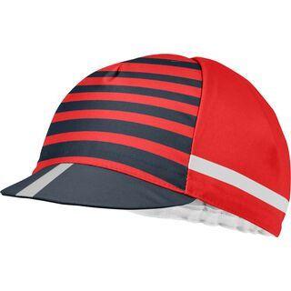 Castelli Free Kit Cycling Cap, red/china blue - Radmütze