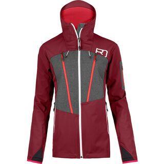Ortovox Pordoi Jacket W, dark blood - Softshelljacke