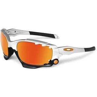 Oakley Racing Jacket Vented, Silver/Fire Iridium Polarized & Black Iridium - Sportbrille