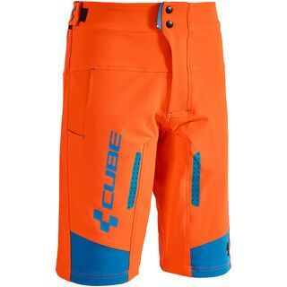 Cube Action Shorts Team, flashred´n´black´n´blue - Radhose