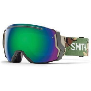 Smith I/O 7 + Spare Lens, disruption/green sol-x mirror - Skibrille