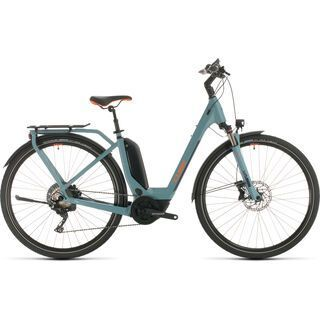 *** 2. Wahl *** Cube Touring Hybrid EXC Easy Entry 2020, blue´n´orange - E-Bike | Größe 58 cm