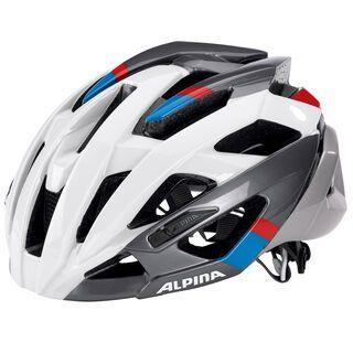 Alpina Valparola RC, white-darksilver-blue-red - Fahrradhelm