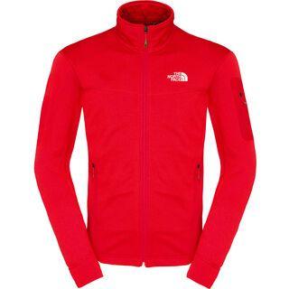 The North Face Mens Hadoken Full Zip Jacket, Salsa Red Heather - Fleecejacke