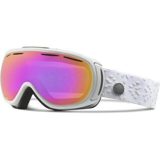 Giro Amulet, white laurel/Lens: amber pink - Skibrille
