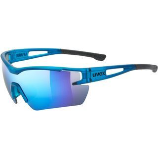 uvex sportstyle 116 inkl. WS, blue mat/Lens: mirror blue - Sportbrille