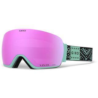 Giro Lusi inkl. WS, black/Lens: vivid pink - Skibrille