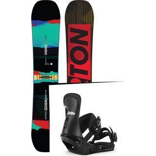 Set: Burton Process Flying V 2016 + Burton Infidel Disc 2017, black/white - Snowboardset