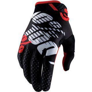 100% Ridefit Glove, black/red - Fahrradhandschuhe