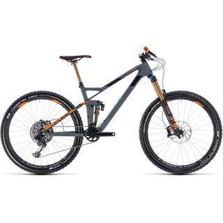 Cube Stereo 140 HPC TM 27.5 2018, grey´n´orange - Mountainbike