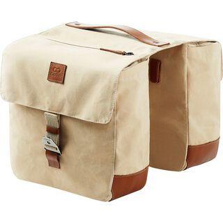 Creme Cycles Rear Rack Twins, creme beige - Gepäckträgertasche