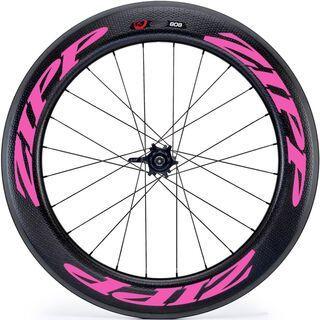 Zipp 808 Firecrest Carbon Clincher, schwarz/pink - Hinterrad