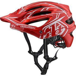 TroyLee Designs A2 Pinstripe 2 Helmet MIPS, red - Fahrradhelm