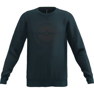 Scott 10 Casual Dye L/Sl Crewneck nightfall blue