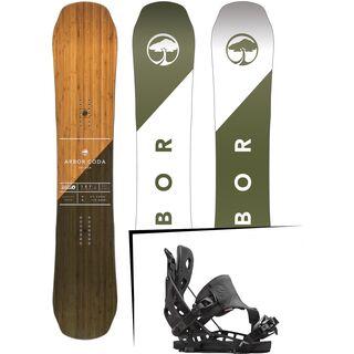 Set: Arbor Coda Rocker 2017 + Flow NX2 Hybrid 2016, black - Snowboardset
