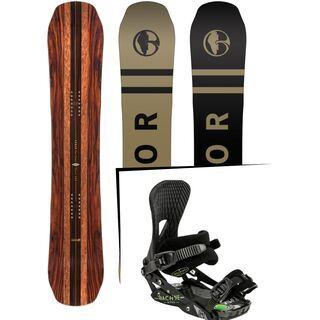 Set: Arbor Coda Camber Premium 2017 + Nitro Machine 2015, black - Snowboardset