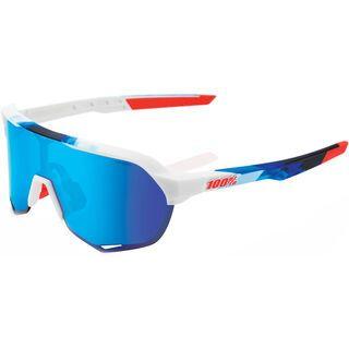 100% S2 inkl. WS, matte white/Lens: hiper iceberg blue mir - Sportbrille