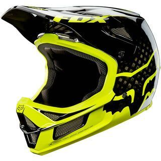 Fox Rampage Pro Carbon Helmet, black/yellow - Fahrradhelm