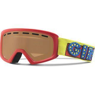 Giro Rev, red ski ball/amber rose - Skibrille