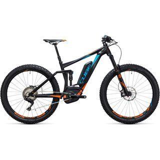 Cube  *** 2. Wahl *** Stereo Hybrid 140 HPA SL 500 27.5+   Größe 22 Zoll 2017, petrol´n´flashorange - E-Bike
