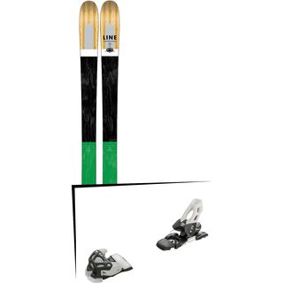 Set: Line Supernatural 92 2017 + Tyrolia Attack 11 100 mm, solid black white - Skiset