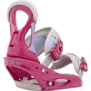 Burton Stiletto 2016, Pink/Grey - Snowboardbindung
