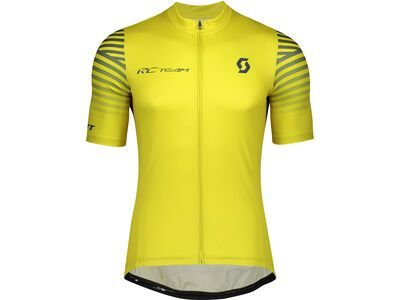 Scott RC Team 10 S/Sl Men's Shirt, lemongrass yellow/nightfall blue - Radtrikot