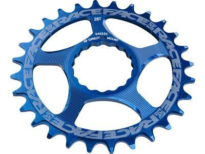 Race Face Direct Mount Cinch Narrow Wide, blue - Kettenblatt