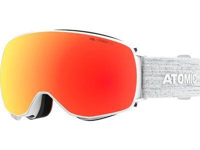 Atomic Revent Q Stereo inkl. WS, white/Lens: red - Skibrille