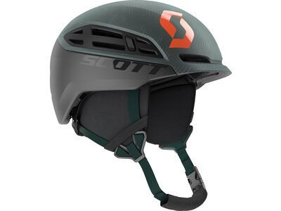 Scott Couloir Freeride Helmet, sombre green/pumpkin orange - Skihelm