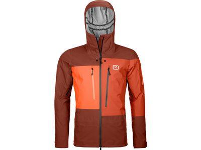 Ortovox 3L Deep Shell Jacket M clay orange