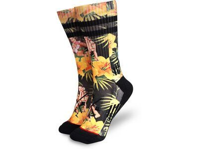 Loose Riders Technical Socks Tiki Time yellow/black