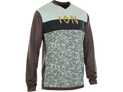 ION Tee LS Scrub AMP, root brown - Radtrikot