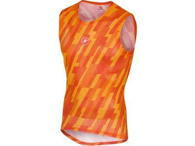 Castelli Pro Mesh Sleeveless, orange - Unterhemd