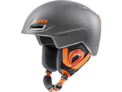 uvex jimm, grey-black-orange mat - Skihelm