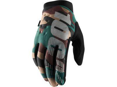 100% Brisker Cold Weather Glove camo black