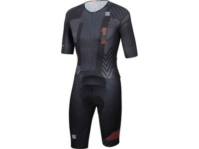 Sportful BodyFit Pro Bomber 111 Suit, black/anthracite/orange - Rad Einteiler