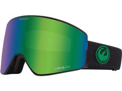 Dragon PXV2 - Lumalens Green Ionized, split/Lens: lumalens green ion