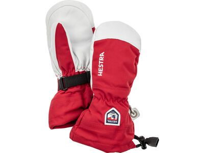 Hestra Army Leather Heli Ski Jr. Mitt, red - Skihandschuhe